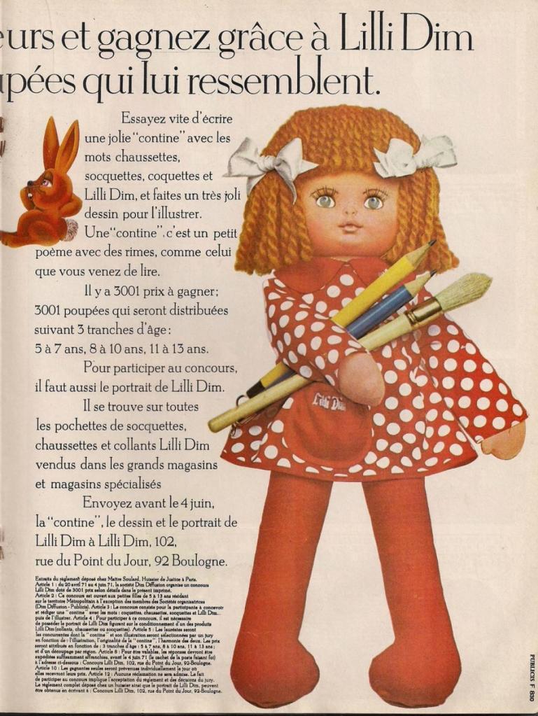 publicité poupée Lilli Dim
