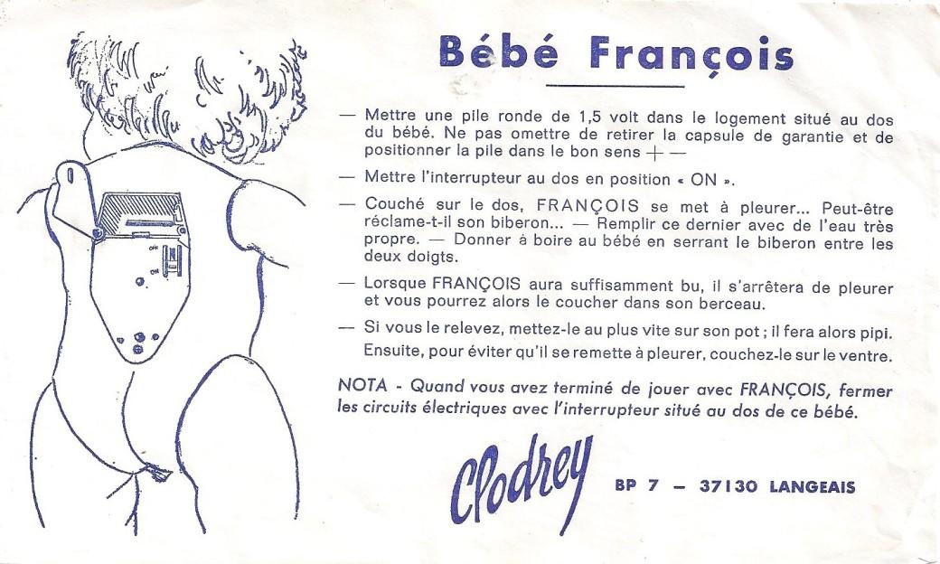 notice poupon François Clodrey