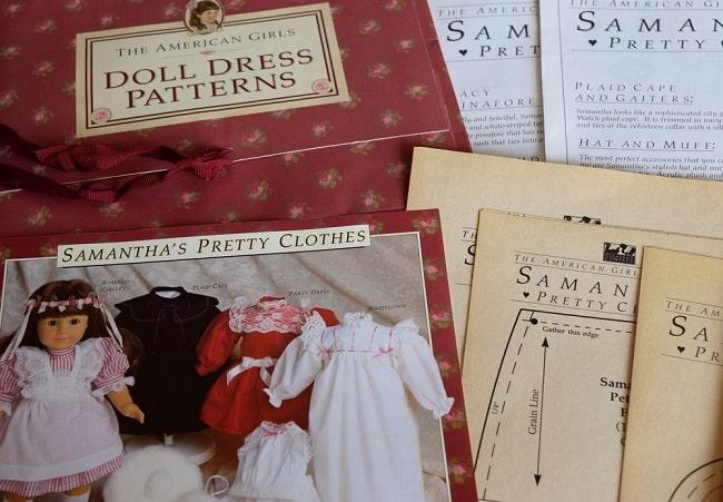 patrons vêtements poupée American Girl Samantha