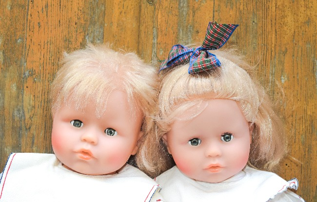 Bébés Corolle Petit Frère et Petite Sœur 1990