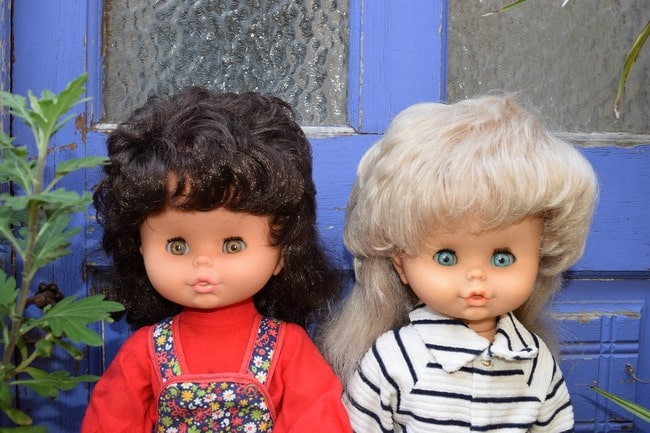 poupées Clodrey Evelyne et Eugénie