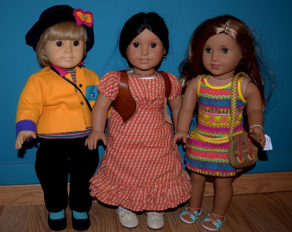 De gauche à droite, Zoey, Josefina et Lea - Photo : collection particulière