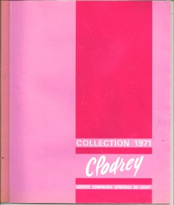 catalogue Clodrey 1971