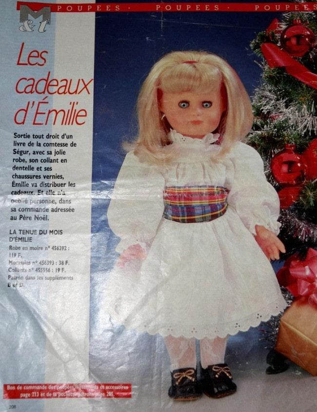 Page poupée Modes et Travaux décembre 1988