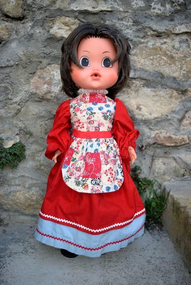 poupée Bella tête de Virginie
