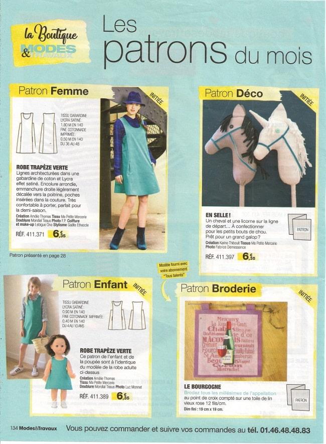 page poupée Modes & Travaux septembre 2017