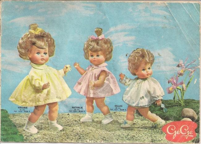 Catalogue jouets poupées Gégé 1963