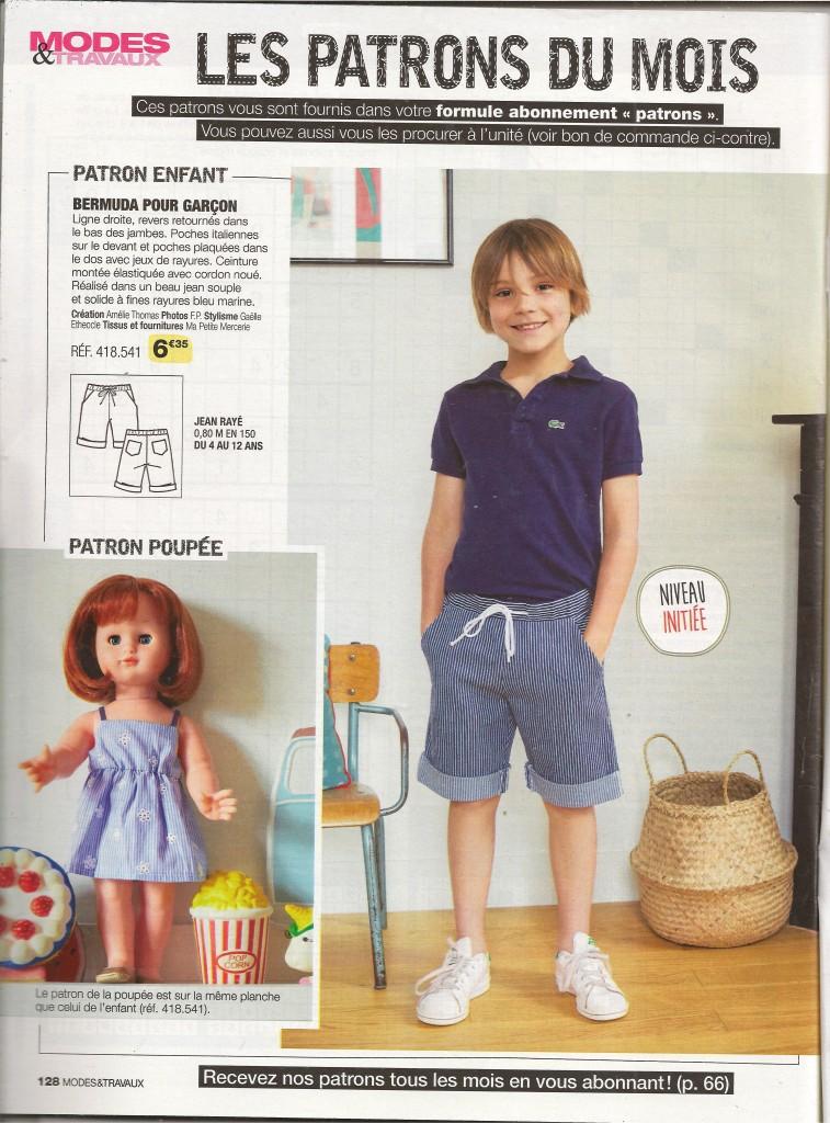 page poupée Modes et Travaux juin 2019