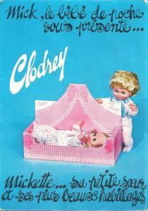 catalogue poupées Clodrey 1970