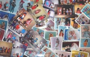 photos et cartes postales poupées Clodrey