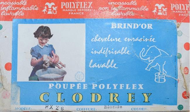 étiquette poupée Clodrey Brind'or