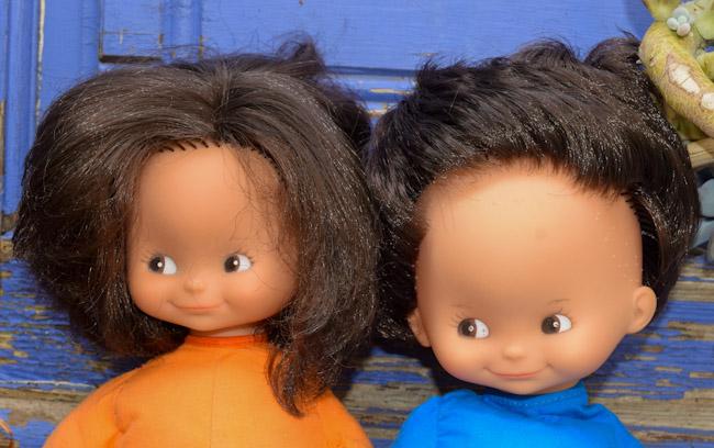 Jeannot et Jeannette, poupées Clodrey de chiffon